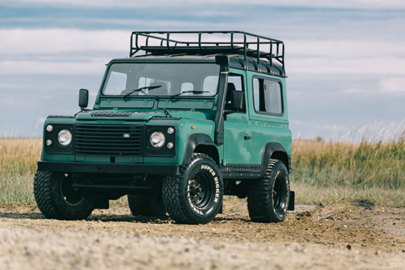 seafoam land rover defender 90 relic imports land rover defenders and exotic cars. Black Bedroom Furniture Sets. Home Design Ideas