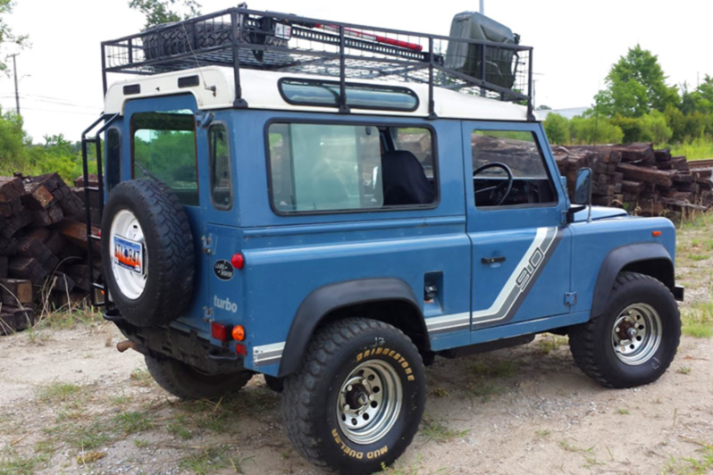 Big Beef Blue Land Rover Defender 90 Relic Imports