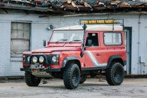 Red Green White Land Rovers-5